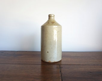 Pottery Bottle Price Reduced Stoneware Bottle Large Saltware Shipping Included in the U.S.