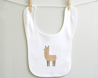 Llama baby bib, llama baby burp bib for baby boy or baby girl, baby shower gift