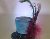 Serene Cerulean Tiny Top Hat
