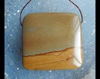 US Biggs Picture Jasper Pendant Bead,33x32x8mm,17.9g