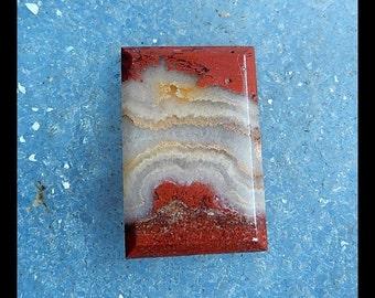 Red River Jasper Cabochon,24x16x4mm,4.2g
