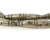 Tuareg Silver Tubular Beads Mali Africa 100330 SALE WAS 32