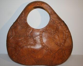Vintage Hobo Leather Whipstitch Shoulder bag