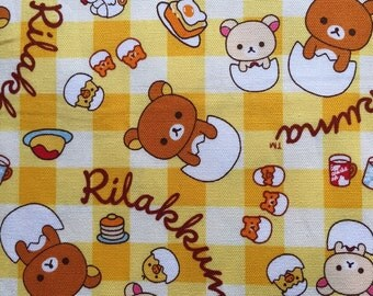 Rilakkuma fabric half yard Japanese fabric