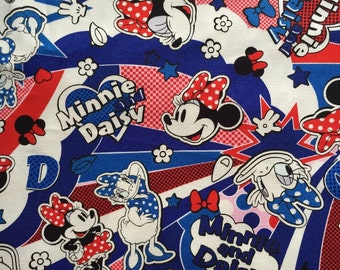 Half yard Disney fabric Minnie mouse printed