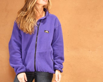 90s COLOR BLOCK black womens SKI fleece columbia Jacket