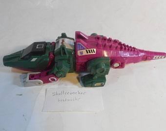 Transformers G1 Takara Hasbro Original Skullcruncher w/ Tail & Gun 1987