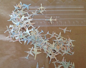 1000 Airplane Paper Punch Map Punches Atlas Map Confetti Table Decoration Tabel Scatter