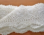 Eggshell White Vintage Crochet Trim Edging, 88 x 56 Inches Trim with Open Center