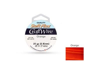 Craft Wire Soft Flex 20gauge Silver Plated Orange 25ft  - 1 Spool Save Big (4742)/1