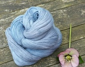 Blue Grey Laceweight Yarn, Hand Dyed Singles Lace Yarn, Falkland Merino yarn, British wool, 100g