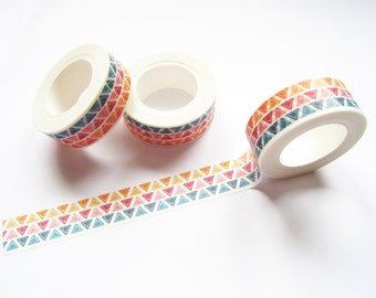 Little Triangle Washi Tape - Planner Washi Tape - Triangle Washi Tape - 10 mt - Decorative Paper Tape - Colored Triangle Planner Tape