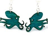 Octopus Wood Earrings - from Reforested Trees
