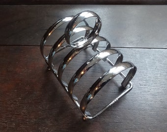 Vintage English hotel breakfast toast racks stainless steel letter stand rack circa 1970/80's / English Shop
