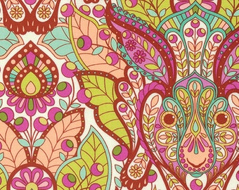 Slow & Steady The Hare Orange Crush PWTP084.ORANG by Tula Pink for Free Spirit