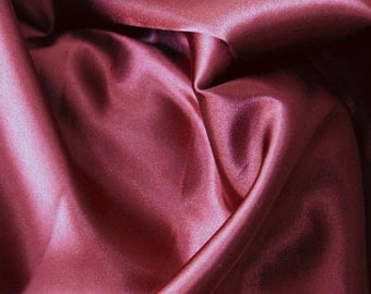 "Red Burgundy Polyester Fabric Remnant Discount 4yds+ by 33"" Material Perfect for Linings Home Decor or Summer Projects"