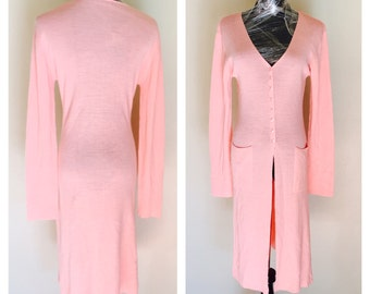 Wool Jacket, Peach Color, Vintage Woman Fashion, Knit Sweater, Item No. BDE004
