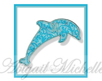 Dolphin Banner Add On - 3 Sizes, Machine Embroidery
