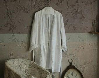 Linen robe, wrap night, morning robe unisex