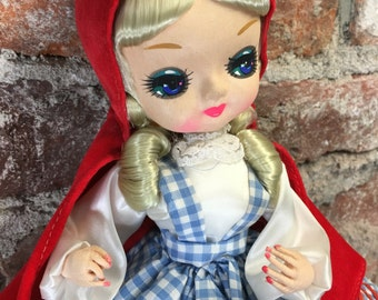 Vintage Rare 1977 Carnival Bradley Doll Little Red Riding Hood 13""