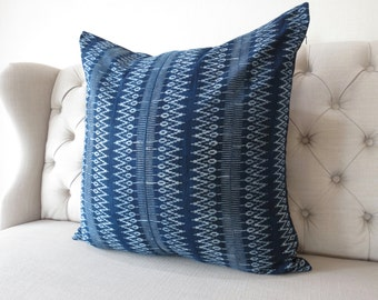 Indigo Batik 26x26, Pillow Cover- Handmade Batik Fabric,Decorative Cushion,Throw Pillow,Decorative Pillow
