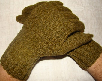 Men gloves- hand knitted, very warm