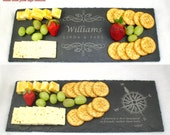 Engraved Slate Cheese Board, Serving Tray, Wedding Gift, Anniversary Gift, Housewarming Gift, Engraved Natural Stone, Engraved Stone