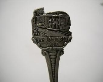 Collectible Souvenir San Francisco Spoon/Silver Plated Spoon/Souvenir Spoon
