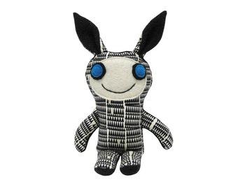 Bunny Rabbit Monster, Plush Bunny, Unique Handmade Bunny Doll, Plush Fabric Monster, Unique Kids Toy, Kawaii Plush, Happy Monster Kayden