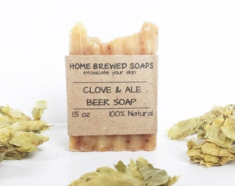 Beer Soap - Clove and Ale - Gifts for Him - Clove Soap- Natural Soap - Beer Soap - Gifts for Beer Lovers - Soap with Beer