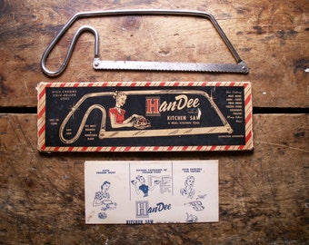 Vintage Han-Dee Kitchen Saw in Original Box with Directions