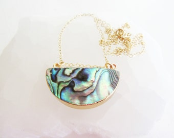 Boho Beach// Abalone Shell Necklace// Summer Fashion // Hawaiin Boho Jewelry