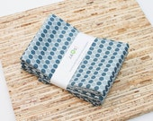 Custom Listing for 0morphine0 - Large Cloth Napkins - Set of 6 - (N3979) - Gray Honeycomb Geometric Modern Reusable Fabric Napkins