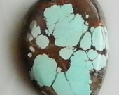 Beautiful Blue Skycloud All Natural Turquoise  cabochon  10597