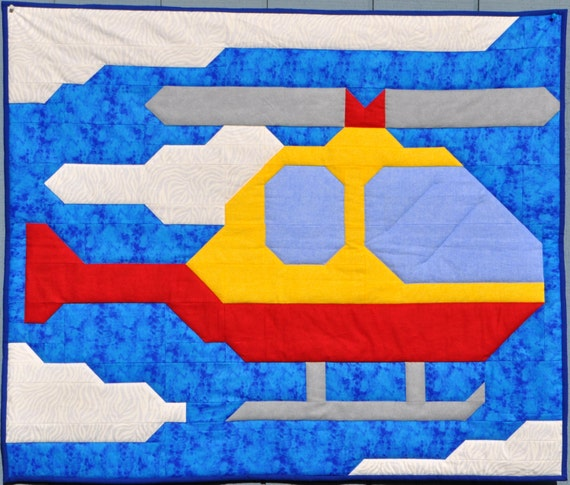 Helicopter quilt pattern with instructions for multiple