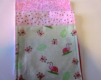 Baby Girl Burp Cloths  3 Piece
