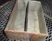 Slate tray with two long sections. Made from salvaged slate. Great for office or kitchen. DT-41