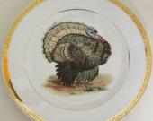 Gold or Silver Turkey Plate, CHOOSE YOUR TURKEY, Thanksgiving Plate, Turkey Dish, Thanksgiving Dinnerware, Turkey Tableware