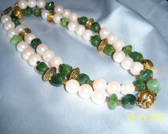 Vintage Elegant Multi-Bead Necklace