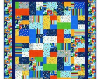 Quilt Pattern -  Space Station   -  Crib to King Sizes