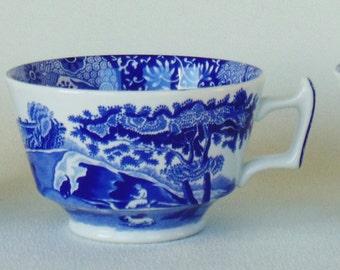 3 Spode Tea Coffee Cups England Blue Italian Spode Design