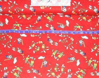 Moda International. Sock Monkeys Sports - By the yard - Choose your cut of fabric