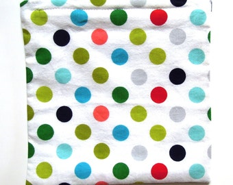 REDUCED PRICE, Reusable Sandwich or Snack Bag: Colorful Polka Dots; Free shipping with other item