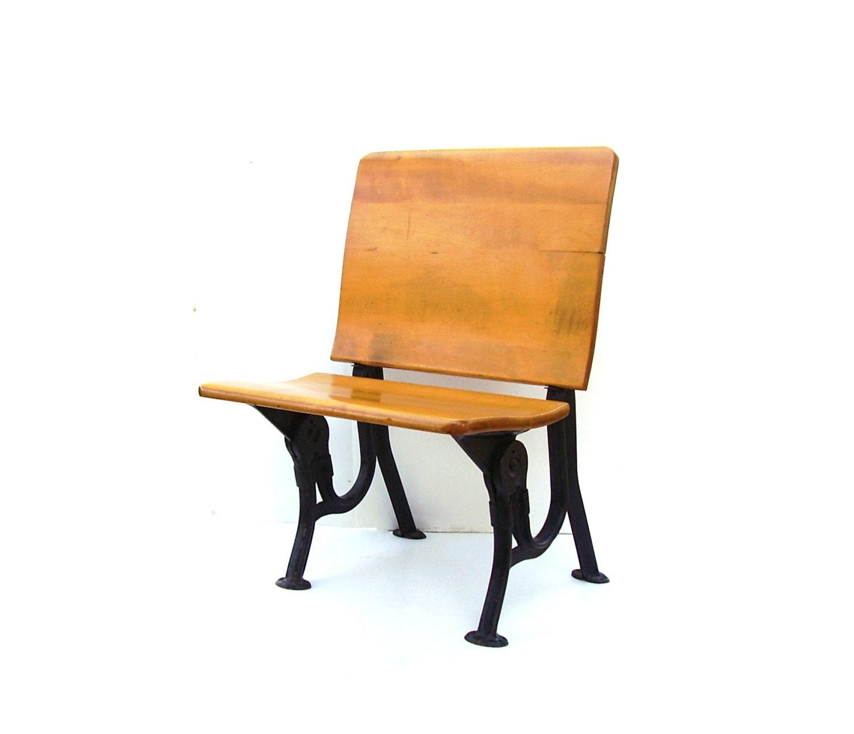 Reserved For Demi Vintage School Desk Bench Wood Schoolhouse