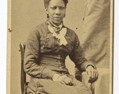 19th Century African-american Women - Cdv Photo - Frank Forshew, Hudson Ny