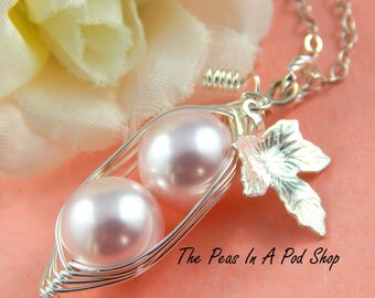 Peas In A Pod, Two peas in a pod necklace,  Precious Girls, For Brides, Friends, Sisters And Mothers