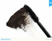 Travel Size Vegan Black Handmade Mascara, On the Go Purse Size, Natural, Paraben-free, Cruelty-Free, No Animal By-Product
