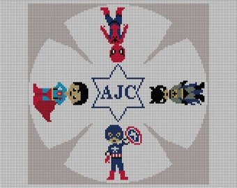Custom Kippah Yarlmulke Needlepoint Kit