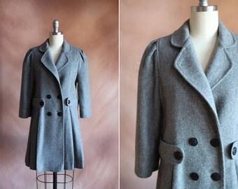 vintage 1980's grey rothschild princess coat / size xs