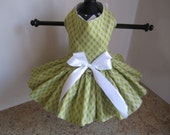Dog Dress  XS Olive Diamonds By Nina's Couture Closet